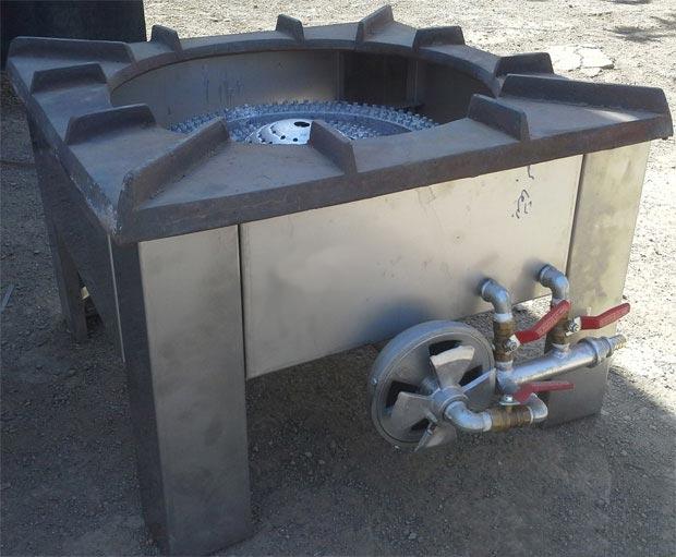اجاق پلوپزی زمینی3شعله کوره دار آشپزخانه های صنعتی