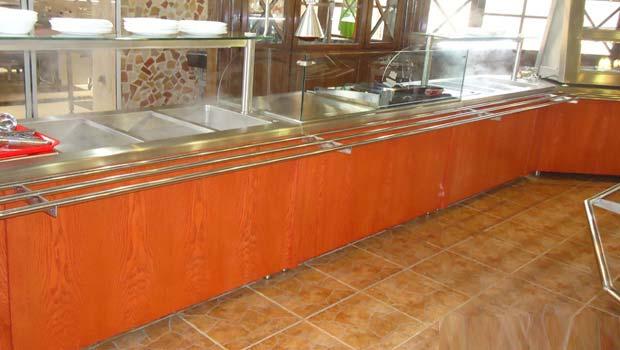 تجهیزات رستوران سلف سرویس استیل طرح چوب