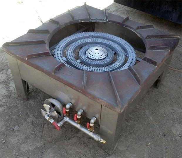 دستگاه پلوپز چهار شعله ای کوره دار