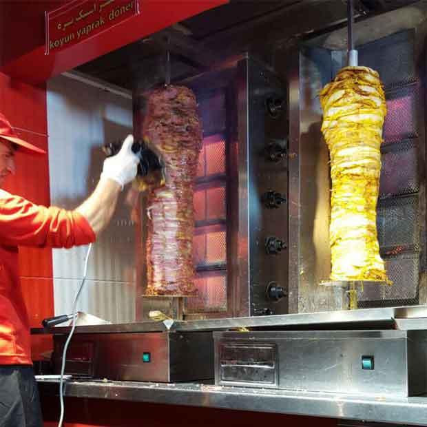 دستگاه کباب ترکی رومیزی یک سیخه
