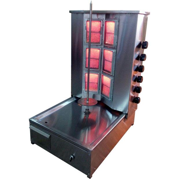 دستگاه کباب ترکی رومیزی تک سیخه شش شعله