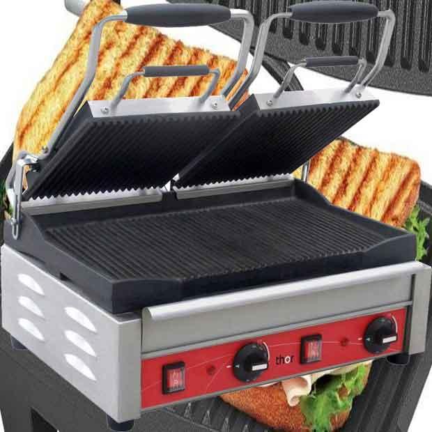 ساندویچ ساز برقی اتوماتیک دو دسته