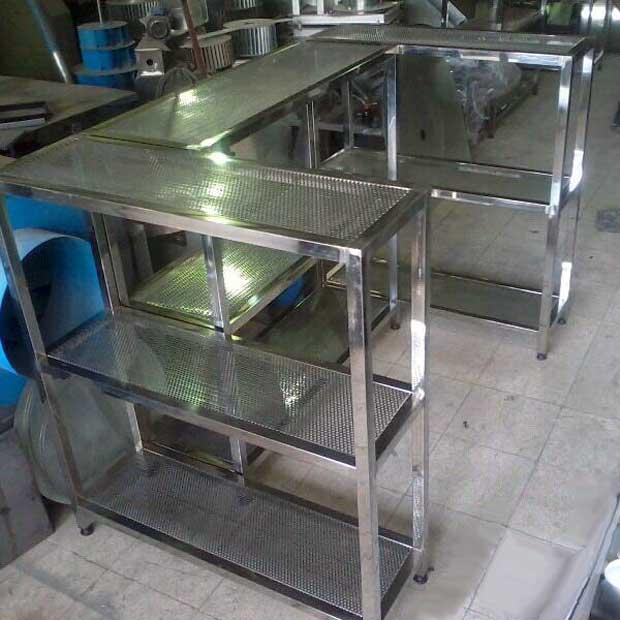 طبقه استیل آشپزخانه صنعتی