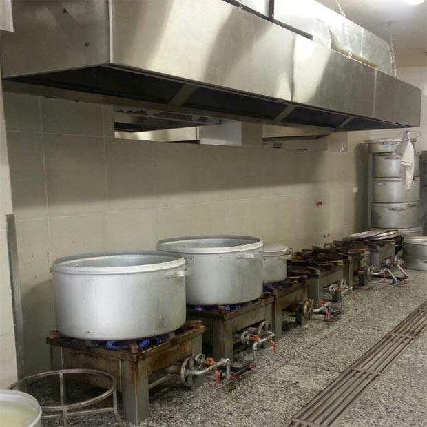 هود آشپزخانه رستوران استیل صنعتی مکعبی