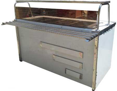 کانتر گرم سالن غذاخوری نمادار با رف ریل شیشه